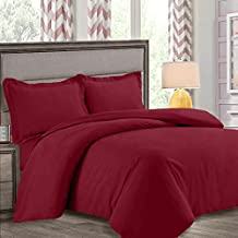 Nestl Bedding Duvet Cover, Protects and Covers your Comforter/Duvet Insert, Luxury 100% Super Soft Microfiber, Queen Size, Color Burgundy Red, 3 Piece Duvet Cover Set Includes 2 Pillow Shams