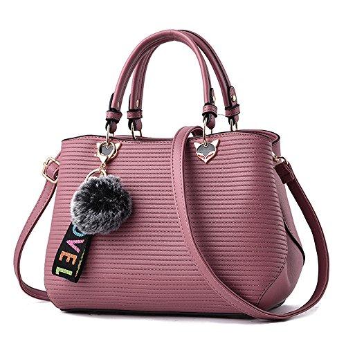 Meaeo Nuevos Hot Moda Bolso De Hombro Paquete Xiekua Impermeable De Desgaste,Rosa Pink