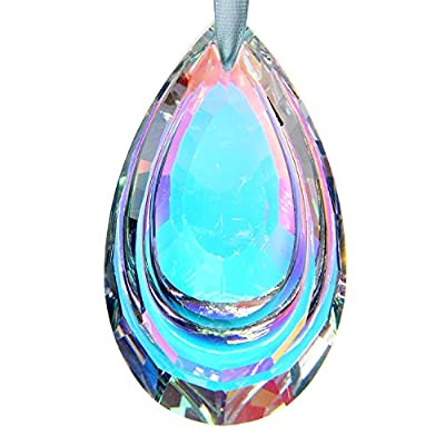 H&D Colorful Suncatcher Crystal Hanging Prism Chandelier Waterdrop 63mm