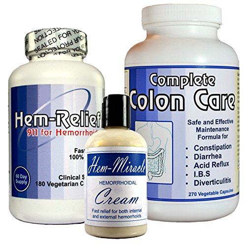 Conclude Hemorrhoids Care – The only comprehensive approach that addresses both the cause and the symptoms related to hemorrhoids. Contains Hem Miracle Cream, Hem-Mezzo-rilievo 'medium relief' and Complete Colon Care.