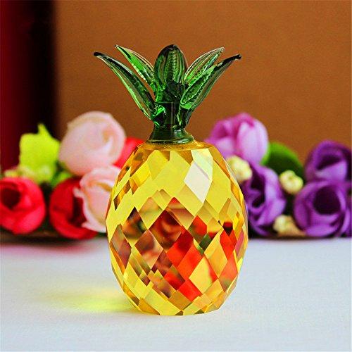 [해외]크리스탈 유리 블록 파인애플 인형 크리스마스 세일 풍수 축제 パ?ティ?ハウスデスクデオクラフトギフト (옐로우) / Crystal Glass Block Pineapple FigurineChristmas Sale Feng Shui Celebration Party House Desk Deo Craft Gift (Yellow)