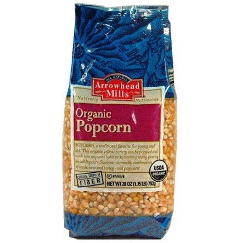 Arrowhead Mills Organic Popcorn 28 oz (Pack of 36)