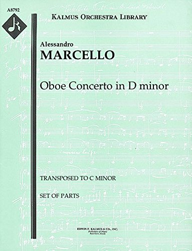 Oboe Concerto in D minor (Transposed to C minor): Set of Parts [A8792]