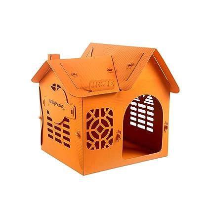 HFF Perrera, Nido para Mascotas, Plástico, Camada para Perros, Casa, Villa