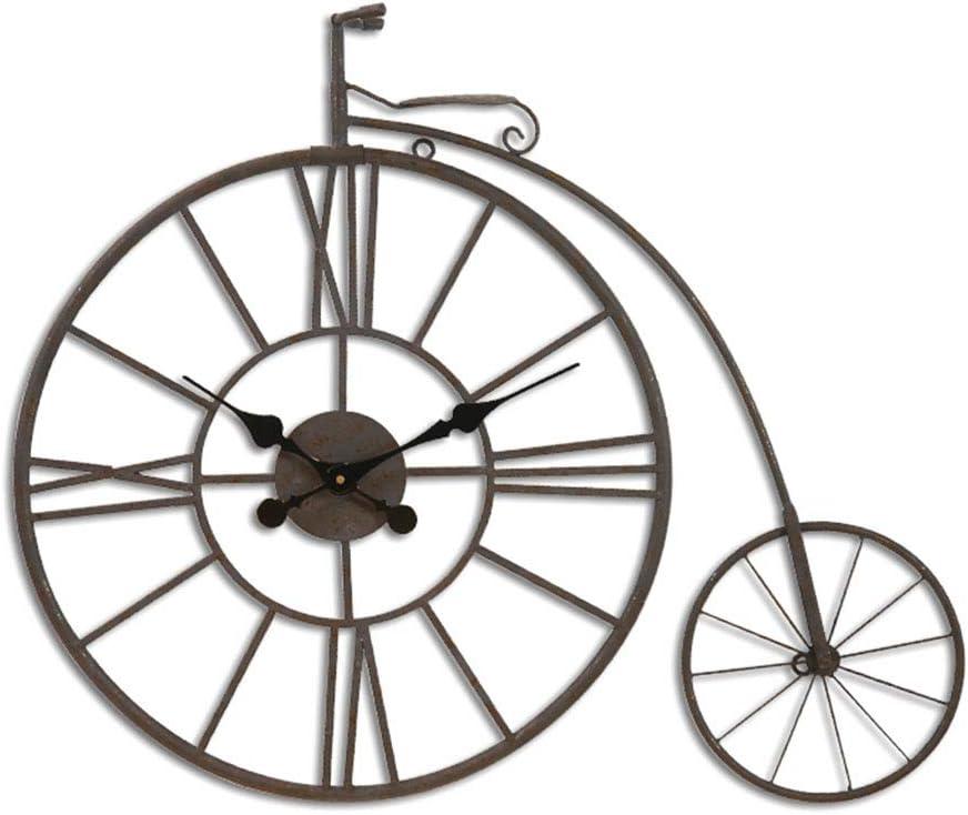 Ziligengsheng Bicicleta de época Reloj Metal Arte de la Pared Antigua Bicicleta Reloj Ornamento Decoración Decoración de la Barra