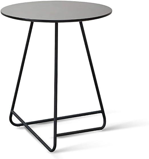 Table family CSQ Hierro Mesa de café, se Puede Mover la Tabla Negro Soporte de pequeñas