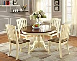 Furniture of America Pauline 5-Piece Cottage Style Oval Dining Set Review