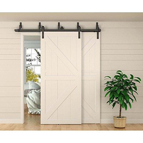 Double barn doors for Exterior bypass barn door hardware