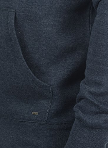 8991 Polar Capucha Tacto Bert Al Hoodie Blue Con Insignia Suéter Melange Sudadera Forro Hombre Para solid Suave Catz7qdq