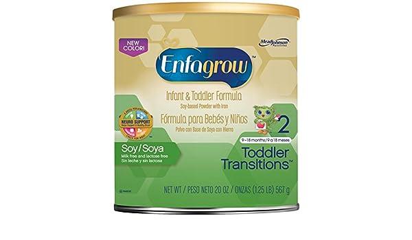 Enfagrow Soy Toddler Formula-Powder-20 Ounces-4 Pack: Amazon.com: Grocery & Gourmet Food