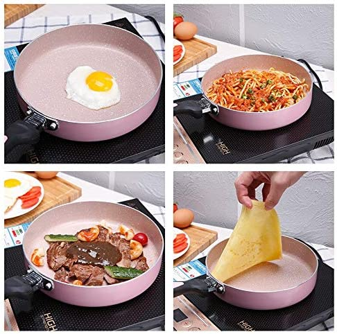 N/ A Poêle à Frire en Alliage d'aluminium antiadhésive poêle de Cuisson Fry Steak Pot Omelette Pan nduction cuisinière Universal Pan ustensiles de Cuisine
