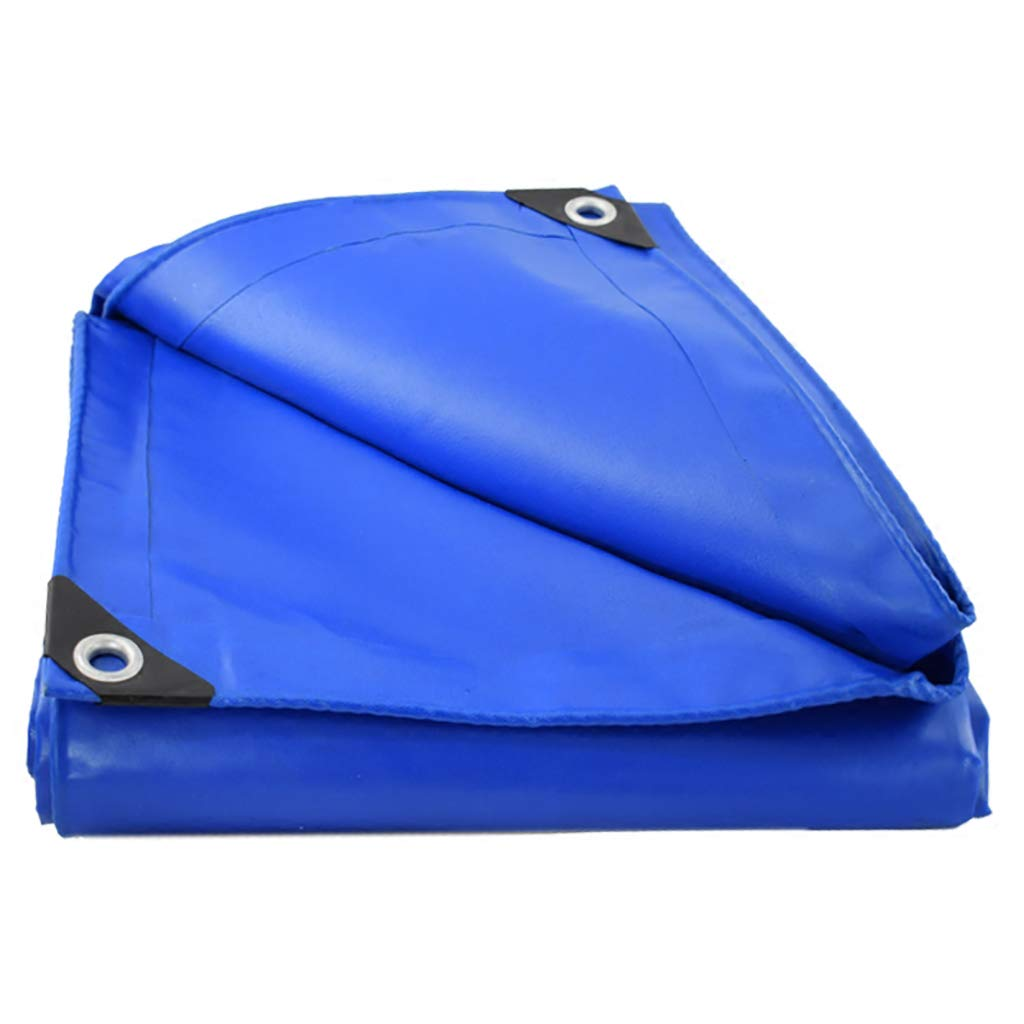 Plane Canvas blau PVC Schuppentuch im Freien Regen Schattierung   Abdeckung Sonnenschutz (größe   2  4M)