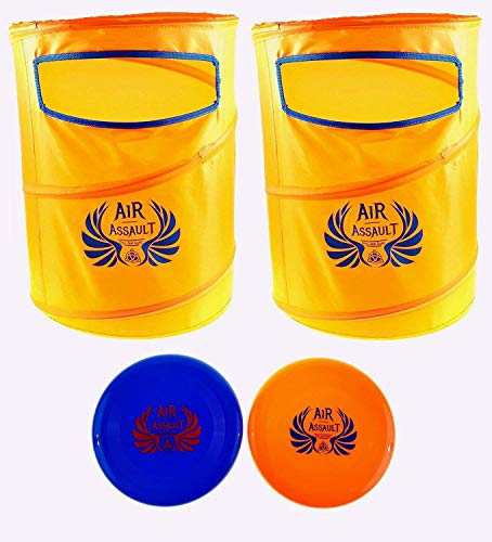 Air Assault - Disc Slamming Game Set - Outdoor Frisbee Dunking Game - Perfect for Tailgates, Family Parties, BBQ's, The Beach, Parks and More! (Kana Can Be Easy)