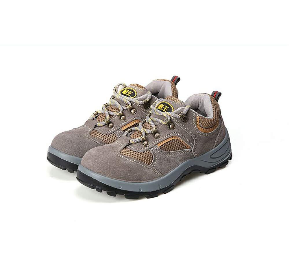 XBXZ Sicherheitsschuhe Bergsteigen-Anti-Abnutzung beschuht Arbeitsversicherungs-Schuhe Stahlkopf-Gummisohlen-Beleg-Verschleißfestigkeit Arbeitsschuhe (Farbe : A, größe : 37)