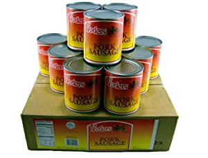 Yoder's Canned Pork Sausage Meat Case - 12 Cans