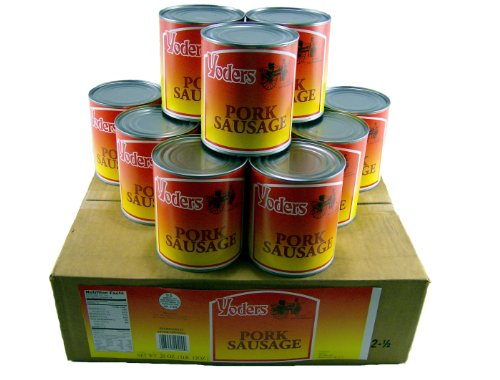 Ground Pork Sausage - Yoder's Canned Pork Sausage Meat Case - 12 Cans