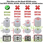 GreenVacShop 2+1 Pack Shark Rotator Professional Lift-Away NV500, NV501, NV502, NV503, NV505, NV510, NV520, NV552, UV560 Replacement Filter Set, 2 Foam+2 Felt+1 HEPA Filters, XFF500 XHF500