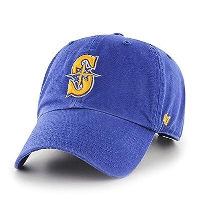 MLB Seattle Mariners '47 Brand Royal Basic Logo Clean Up Vintage Adjustable Hat