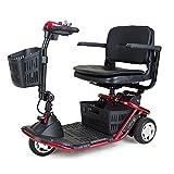 Golden Technologies - LiteRider Mini - Lightweight Travel Scooter - 3-Wheel - Red