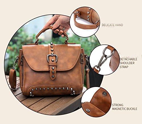 Pt5 Women Doctor Shoulder Style Bag Hobo Donalworld Vintage Pu Leather qPw66Fzt