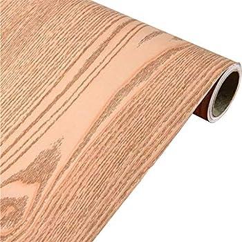 Self Adhesive Wood Grain Furniture Stickers Pvc Wallpaper