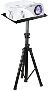 Pyle Pro DJ Laptop Stand, Projector Stand, Adjustable Laptop Stand, Multifunction Stand, Adjustable Tripod Laptop Projector Stand,Good For Stage or Studio (PLPTS7) (Renewed)