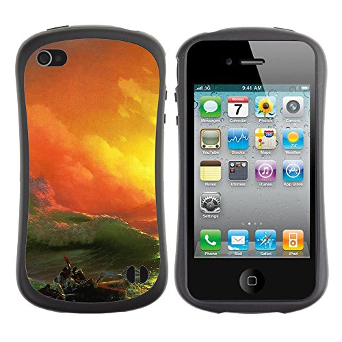Apple Iphone 4 / 4S [Classic The Ninth Wave Art Illust]
