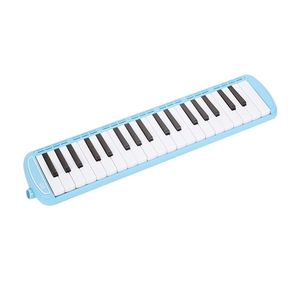 Melodica Musical Instrument 37 Piano Keys Melodica Musical Instrument For Music Lovers Beginners Gift Portable With 2 Mouthpieces Tube Sets Carrying Bag Pianica Melodicas Piano Style Pink Blue For Mus