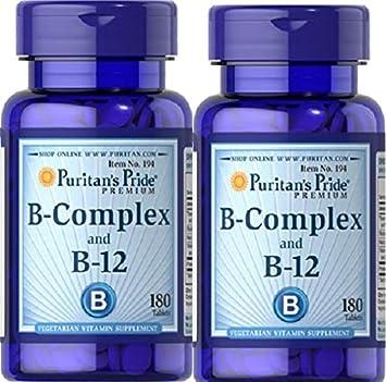 2 VITAMINA B12 Y B COMPLEX 180 COMPRIMIDOS (MEMORIA Y STRESS): Amazon.es: Salud y cuidado personal