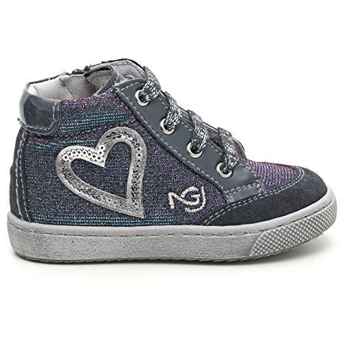 Nero Giardini Junior - Zapatos primeros pasos para niña Azul turquesa 20 Velour Serena