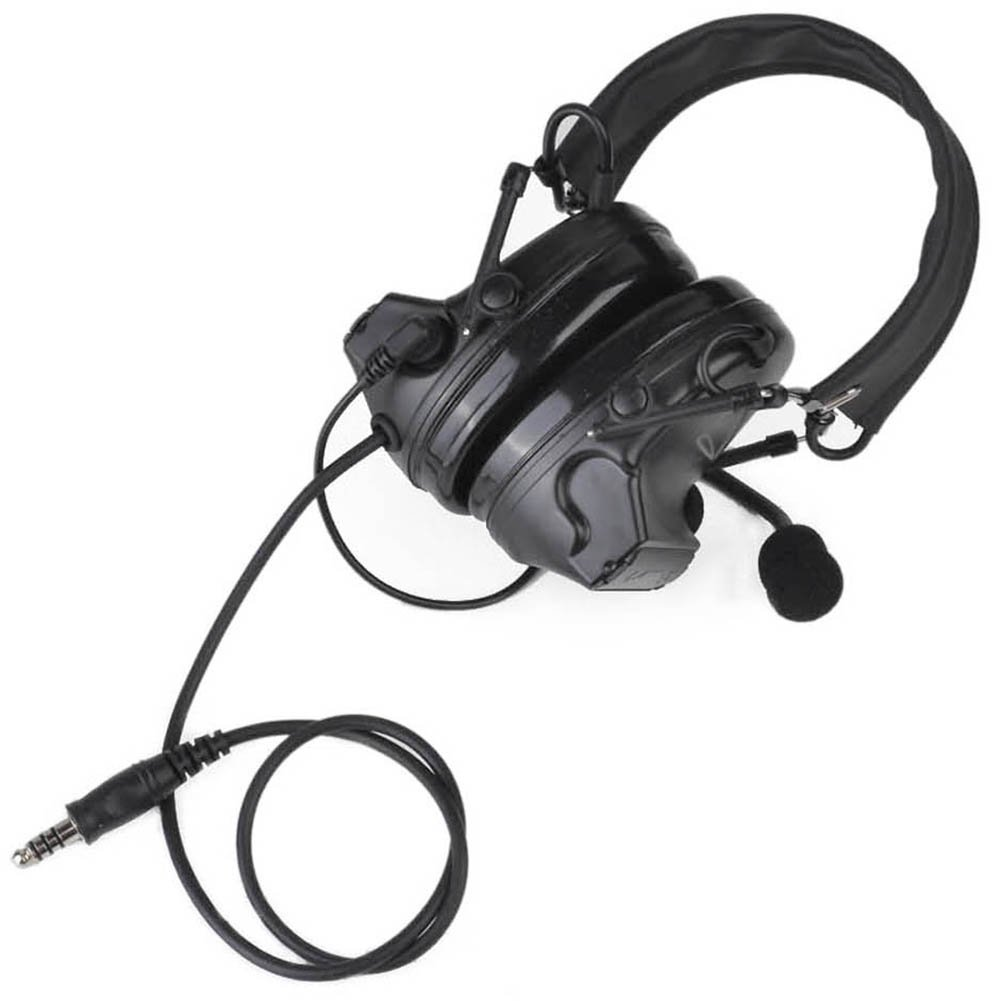 Newest Camouflage headp Comtac II Tactical Headset Noise Reduction Electronic Sound Pickup Safety Ear Muffs with Microphone (BK, OneSize) by Sitong