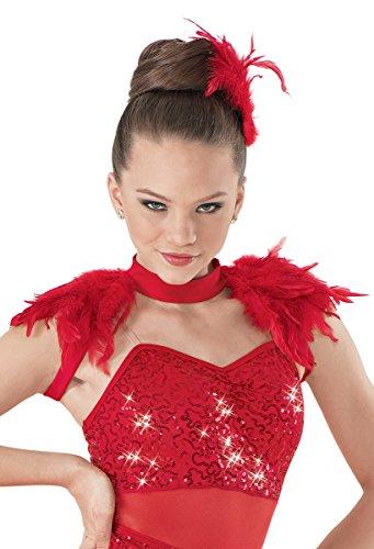 [Balera Dance Costume Feather Epaulette Shrug] (Cute Dance Recital Costumes)