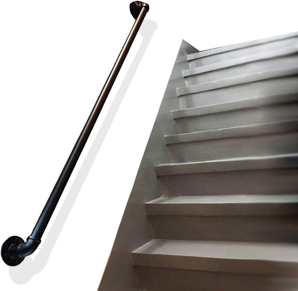Pasamanos de Escalera Apoyabrazos de tubería Barandilla de Escalera, Tubos de Agua Retro de Hierro Bar multifunción para Interiores y Exteriores, tamaño 35-150 cm: Amazon.es: Hogar