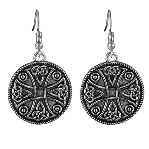 Celtic cross with Celtic knots Dangle Earrings