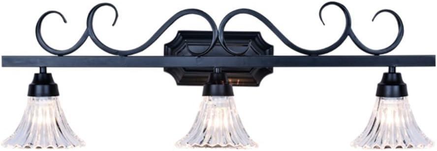 HOMEE Lámparas de espejo de baño- modernos mampara de baño WC americano luces de espejo retro led espejo de cristal lámpara de pared de luz --faros de espejo faros (forma: 2),3: Amazon.es: