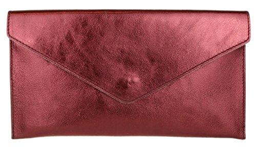 Girly Womens HandBags Burgundy Clutch Violetta wB6UBqXxr