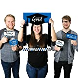 Blue Grad - Best is Yet to Come - Royal Blue 2018 Graduation Party Selfie Photo Booth Picture Frame & Props - Printed on Sturdy Material