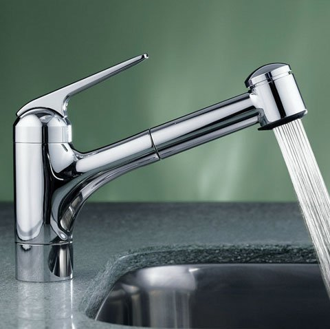 KWC Faucets 10.061.032.000 DOMO Pull Out Kitchen Faucet, 7