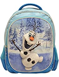 Disney Frozen Olaf Blue Deluxe 3D Plush Velvet Kids Large Backpack 16