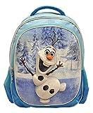 Disney Frozen Olaf Blue Deluxe 3D Plush Velvet Kids Large Backpack 16'