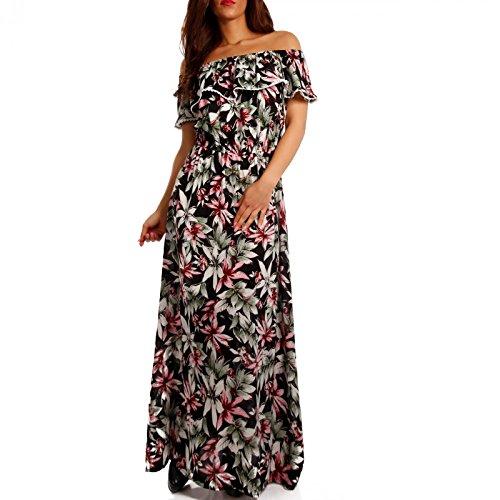 Young-Fashion - Vestido - suéter - Floral - Sin mangas - para mujer Mehrfarbig/Model9