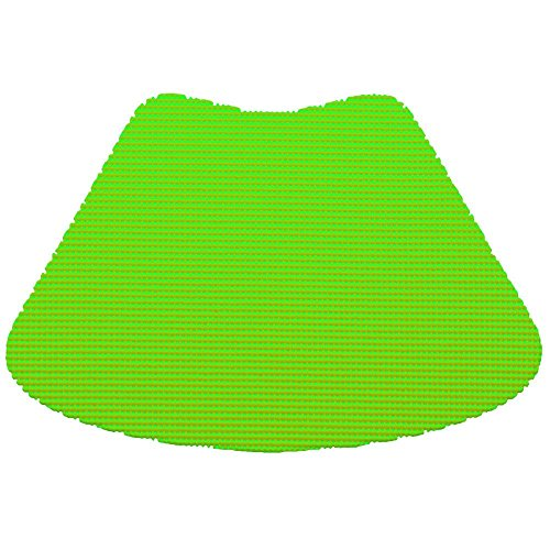 12 Piece Lime Green Fishnet Placemat, Traditional Style, Lace Material, Solid Pattern, Wedge Shape, Machine washable, Perfect For Everyday, Fade Resistant And Durable, Light Green by PATRIOT HOME