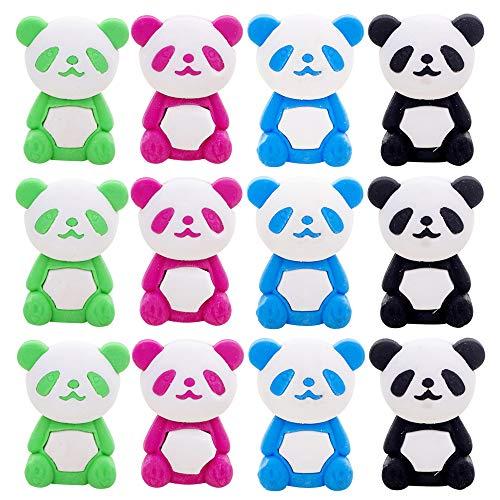Panda Eraser - 32 Pcs Panda Pencil Eraser Set, For Kids - Holiday Gift, Children's Gift Party Favor
