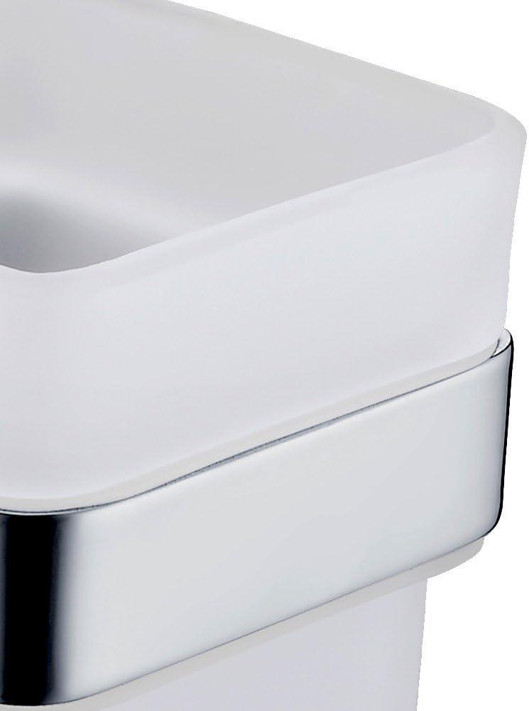 Plateado acero inoxidable CASEWind contempor/áneo sola barra de toalla toallero para ba/ño con plata de acero inoxidable acabado cromado montado en la pared L60/cm Toiletbrush Holder