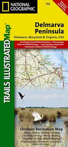 Delmarva Peninsula  Trails Illustrated Map   772