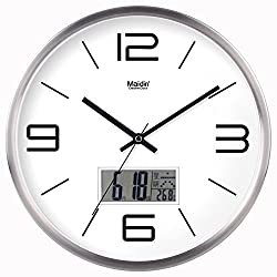 Znzbzt Simple Creative Mute Wall Clock The Hotel Hotel Front Desk World Time Zone Wall Clock Modern Minimalist Creative Quartz Watches Mute Clock, 10 inch, Metal Calendar