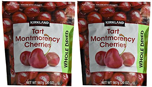 Kirkland Signature Dried Natural Cherries 20 Ounce (20 Ounce Bags (2 Pack))
