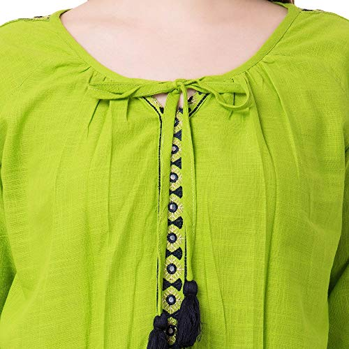 51aPURRFFcL. SS500  - AANIA Beautiful Embroidered Exclusive Casual Cotton Women's Top