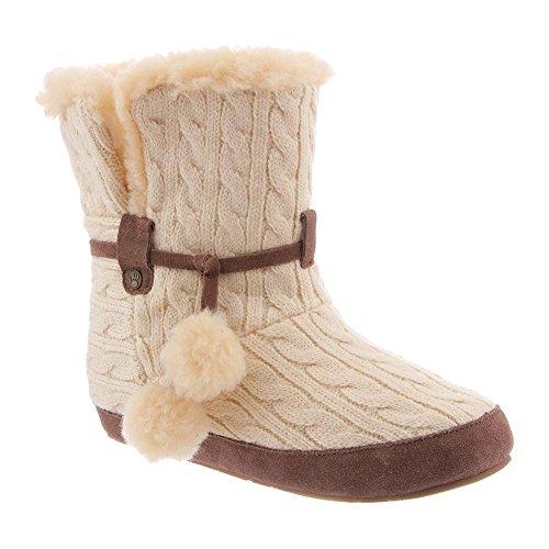 (Bearpaw Slippers Womens Trista Bootie Sheepskin Lining 9 M Linen 1899W)