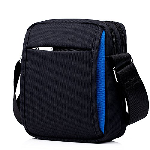 Men's Sports Shoulder Messenger Colorblocking Waterproof Bag Mini Zq Cloth Oxford Casual qT1xf4